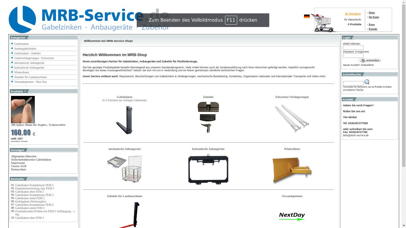 MRB-Service Online-Shop